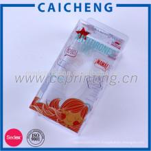 Boîte d'emballage d'usine d'OEM PVC / PP / PE en plastique avec l'impression