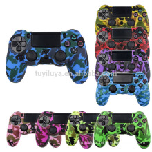 Camouflage Camo Protective Skin Grip Cover Capa de Silicone para Playstation 4 PS4 Pro PS4 Slim Gamepad
