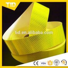 Fita de aviso de segurança reflexiva, verde amarelo fluorescente, grau de diamante
