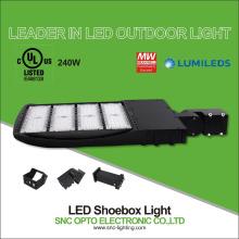 Promotion Photocell option UL cUL listed 130LM/W retrofit 240W parking lot LED Shoebox light