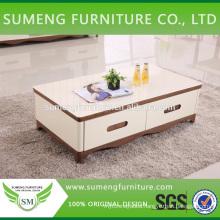 Cheap price turkish MDF veneer high gloss coffee table galss top #502