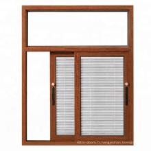 Wanjia dernière maison des fenêtres coulissantes avec stores pare-soleil à l'intérieur