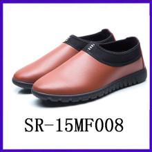 Zapatos calientes de la venta al por mayor resbalón en los zapatos Zapatos superiores de la PU para los hombres