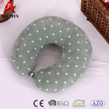 Hot sale solid color dot printed travel neck pillow,office use U shape pillow