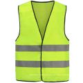 Chaleco de seguridad reflectante amarillo con hilo de rayos X de PVC