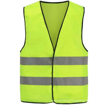 Colete de segurança reflexivo amarelo de fio de raio-x de PVC