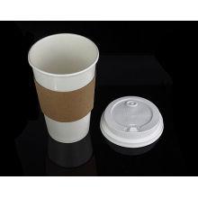 Изготовленный на заказ напечатанная Логосом Устранимая жара-доказательство пульсации бумажный стаканчик рукав для 12 унций, 16 унций чашки