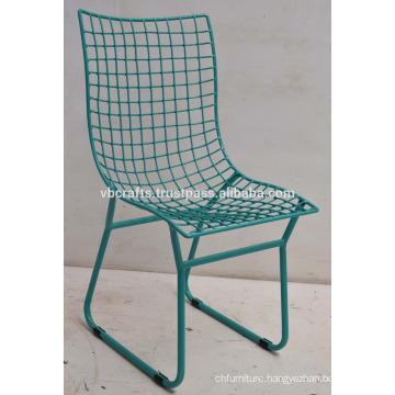Modern Industrial Loft Metal Mesh Chair