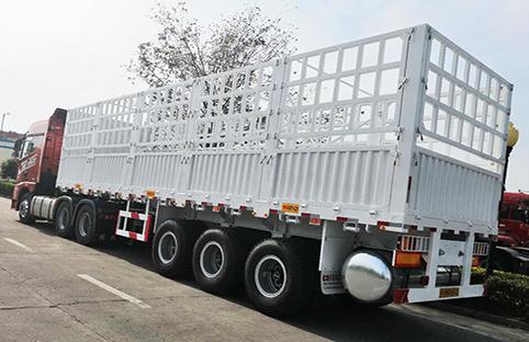 fence semi truck trailer