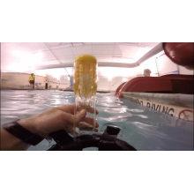 Маска для подводного плавания с трубкой и креплением для подводной камеры