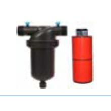 Plástico médio da linha masculina do filtro 120mesh do disco de T para a irrigação