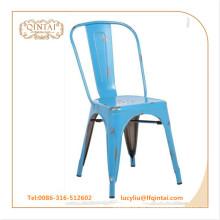 Peeling azul vintage metal silla cobre color loft silla