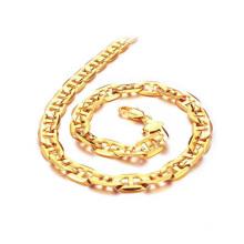 Colar robusto do elo de corrente do ouro, colar de cobre do ouro 18k do chapeamento para a venda