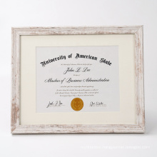 A4 New Design Creative Custom Distressed Cheap MDF  Wood Document Diploma Certificate Award Picture Photo Poster Frame