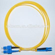 SC / LC Duplex SM Cable de conexión de fibra óptica