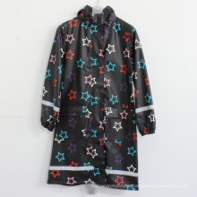 Black Basement Star PU Adult Raincoat