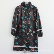Black Basement Star PU Adult Raincoat