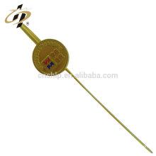 Meilleurs articles de vente en laiton personnalisé mariage décoration en métal or signet