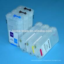 For hp 72 Refill ink cartridge for hp inkjet T610 T620 T770 T790 T1200 T2300 printer cartridges