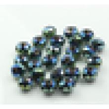 Рондель бисер кристалл, радужные стеклянные бусины, круглые хрустальные бусины