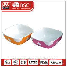 square shape plastic bowl