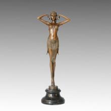 Dancer Bronze Sculpture Performance/Show Home Decor Brass Statue TPE-462