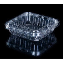 Одноразовая прозрачная пищевая пластиковая коробка для упаковки фруктов