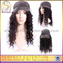 Brazillian Light Bob Style Human Hair Kinky Curly Full Lace Wig
