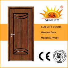 Puertas de apertura única talladas en MDF