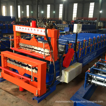 hebei xinnuo double layer 840+900 trapezoid metal sheets forming machines