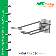 Single Prong Slatwall panel Hook with Overarm