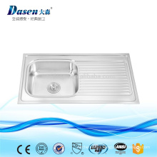 Stainless steel molded kitchen sink with plate Foshan manufacturer