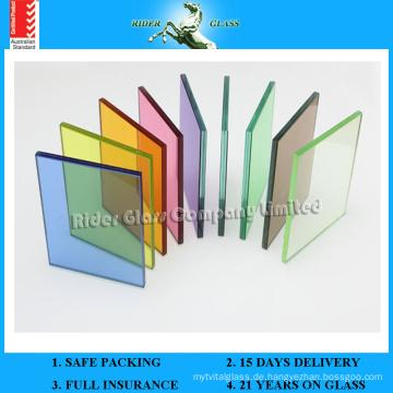 4.38-42.3mm Farbiges Verbundglas mit AS / NZS2208: 1996