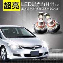 H11/H8 CREE LED 18W Blanc DC11-14V LED Phare Automatique