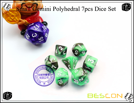 Small Gemini Polyhedral 7pcs Dice Set-4