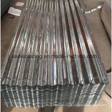 Folhas de telhado de aço corrugado de zinco de alumínio