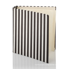 High-quality Ribbon Page Marker Large Personal Business Hardcover metal ring Spiral Notebook with PVC pocket
