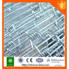 China fornecimento de arame farpado barata / calibre 14 galvanizado arame farpado / arame de ferro galvanizado