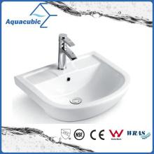 Banheiro semi-embutido lavatório de lavatório de lavatório de cerâmica lavatório (ACB8545)