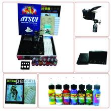 Professionelle Tattoo Kit LCD Power 1 Maschinen Guns 1 Griffe Nadeln Maschine Tinte Versorgung
