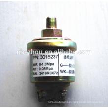 Sensor de pressão de óleo elétrico do motor diesel do caminhão pesado 3015237