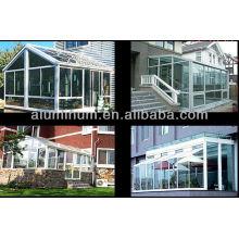 Aluminum profiles for sun room