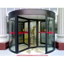 Three Wing Automatic Revolving Doors with Display Case