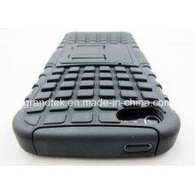 PC + TPU híbrida a prueba de choques Kickstand teléfono celular caso para el iPhone 6