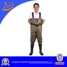 Wasserdichte Men′s Nylon PVC Brust Wader (7798P)