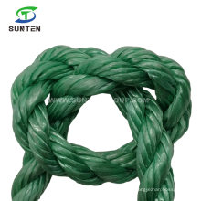 3 Strand Double Twisted/Twist Green PP/Polypropylene Splitfilm/Split Film Rope for Agriculture Packing