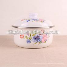 utensilios de cocina calcomanías de flores esmalte maceta utensilios de cocina calcomanías de flores esmalte maceta