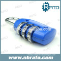 small 3 number zinc alloy code padlock