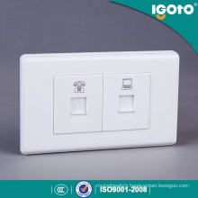 Tel & Computer Wall Socket for Colombia Market