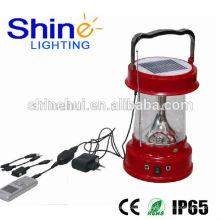 Linterna de camping solar con cargador de teléfono celular